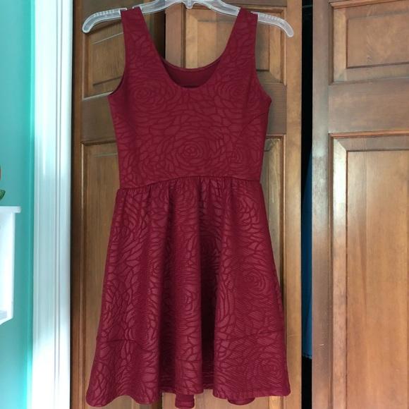 ab583241232c Saks Fifth Avenue Dresses   Red Rose Embossed Skater Dress   Poshmark